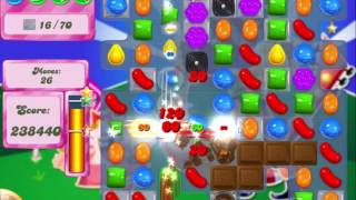 Candy Crush Saga Level 410 Clear all the Jelly! - Hard Level