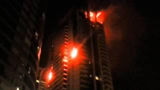 حريق ابراج بحيرات الجميرا 18/11/2012