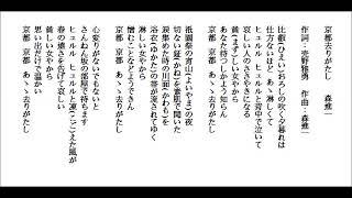 練習唱日本演歌-京都去りがたし-森進一.