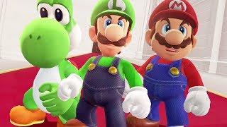Mario, Luigi and Yoshi in Super Mario Odyssey - Final Boss & Ending