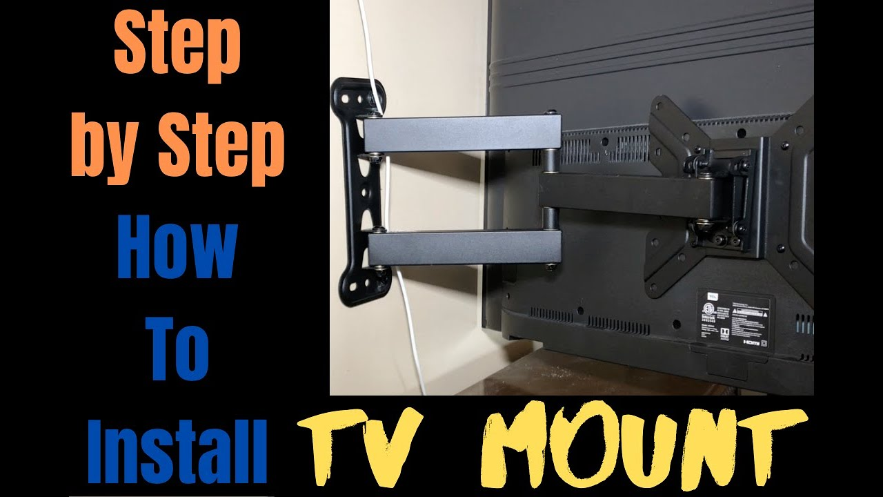 Complete Step By Step How To Mount Flat Screen Tv Tcl 43 Roku Tv Mount Youtube