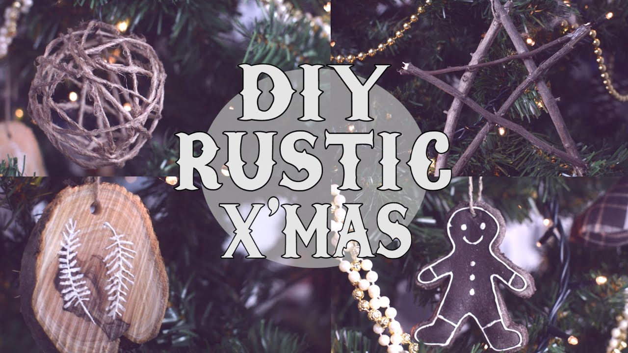 diy rustic christmas tree ornaments youtube - Rustic Christmas Ornaments