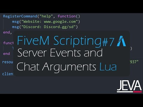 FiveM Scripting 7 - Server Events and Chat Arguments - YouTube
