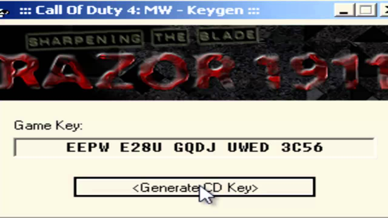 Call Of Duty Key Code Generator