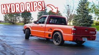 Testing the HYDRO Handbrake & Scaring My Dad in the DRIFT TRUCK!
