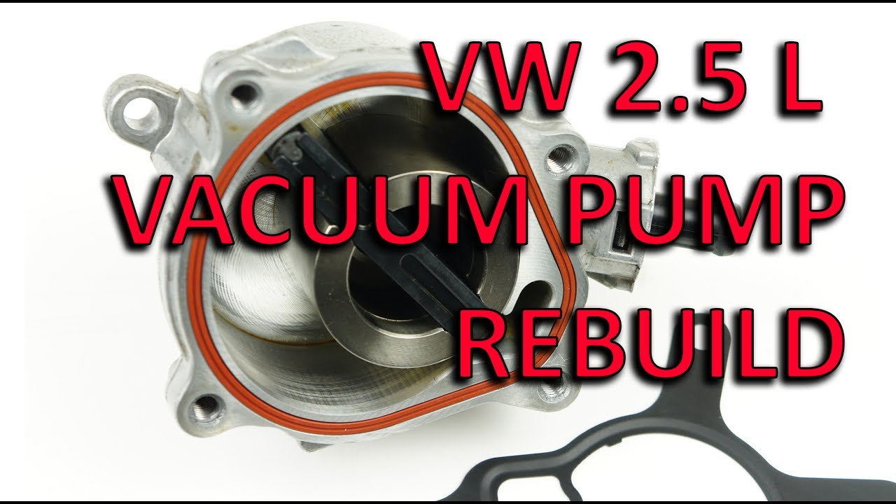 HOW TO: Volkswagen 2 5 L vacuum pump rebuild