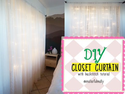 DIY Closet Curtains with Backstitch Tutorial @Mollerful