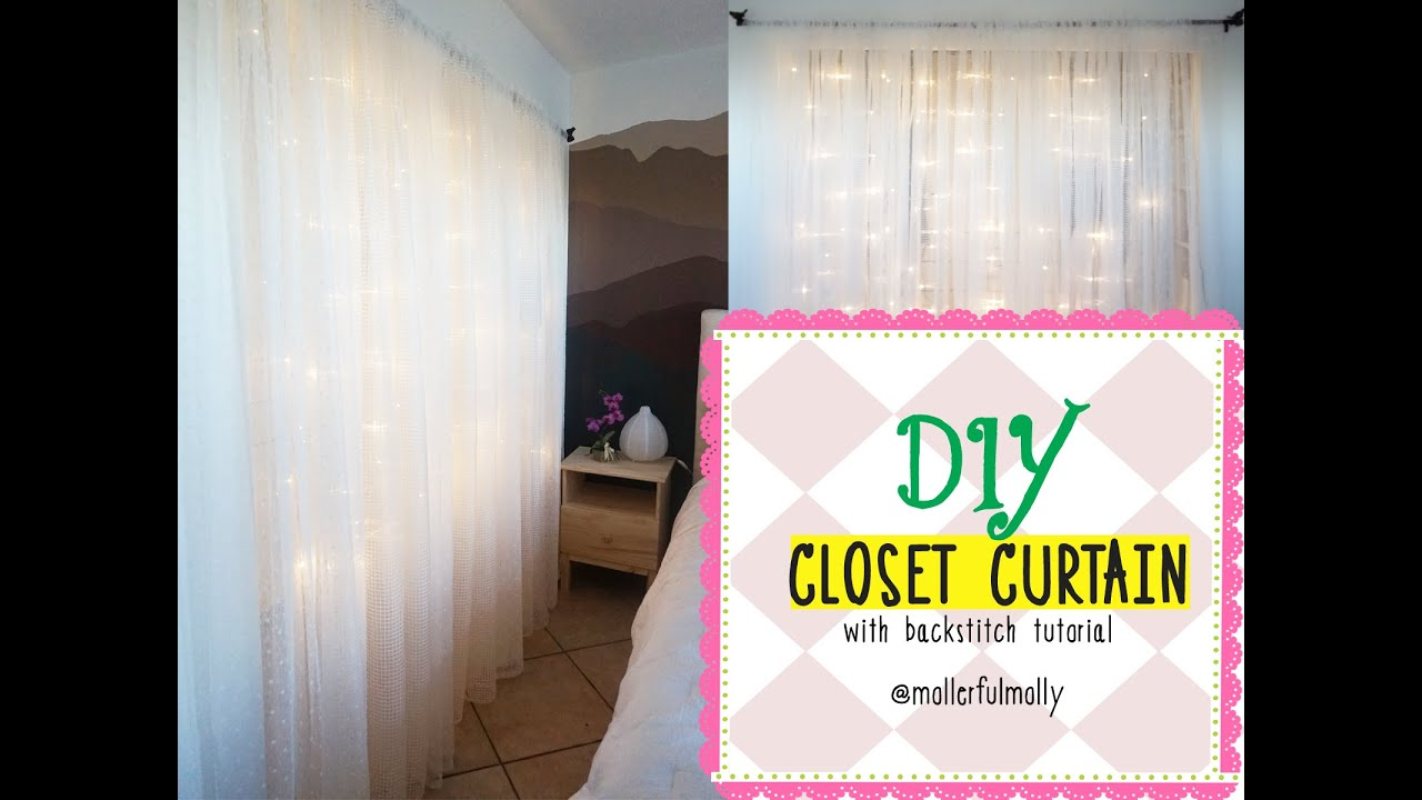 DIY Closet Curtains With Backstitch Tutorial Mollerful