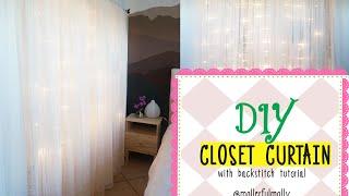 Diy Closet Curtains With Backstitch Tutorial @mollerful