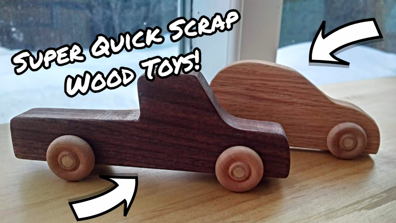 Simple Toy Cars Beginner Woodworking Project Youtube