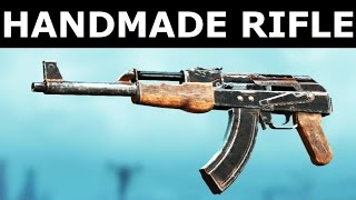 fallout 4 nuka world dlc handmade rifle new weapon in action