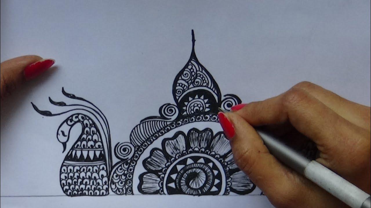 Mehndi Free Hand : Diy how to make bridal mehndi design free hand