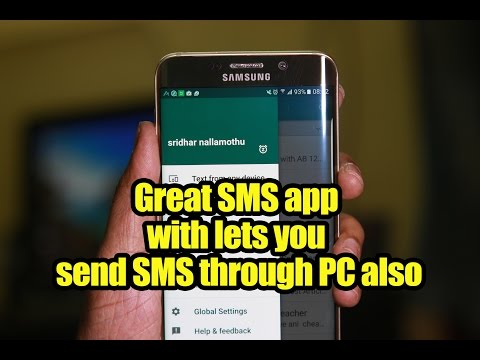 Great SMS App With Lets You Send SMS Through PC Also