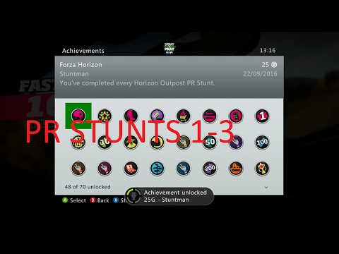 Forza Horizon Outpost PR stunts 1- 3