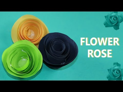 How to Make Paper Flowers: Rolled Paper Roses DIY Easy Tutorial