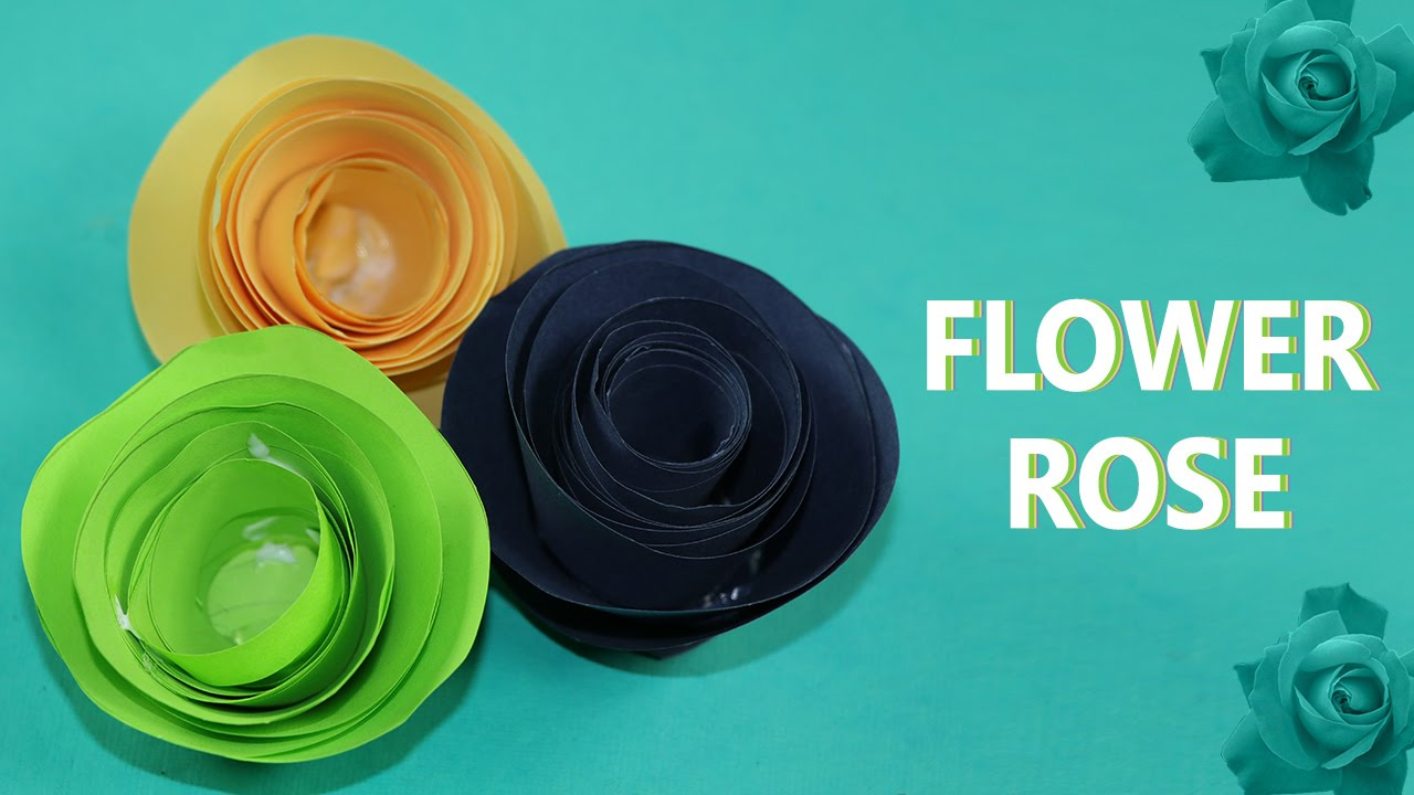 How To Make Paper Flowers Rolled Paper Roses Diy Easy Tutorial
