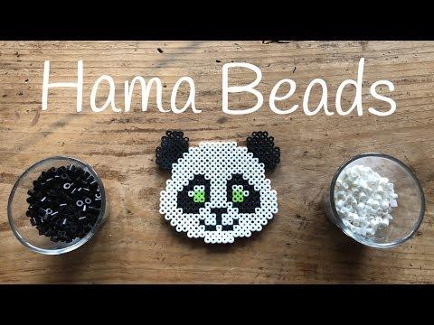 Oso Panda De Hama Beads Manualidades Para Niños Juntines Com