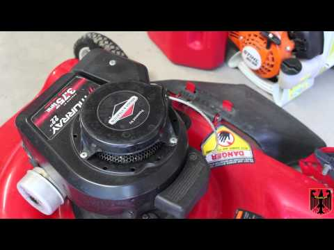 Small Engine Repair Replacing The Starter Pull Cord On A