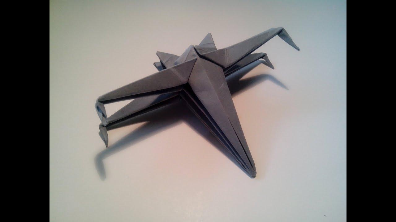 Papercraft Como hacer una nave de star wars de origami sencilla (X-WING)