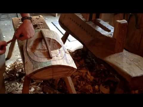 Hollowing a Wooden Bowl with an Adze