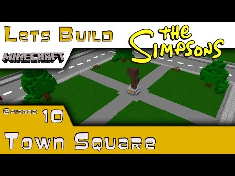 Minecraft :: Springfield Lets Build :: Town Square :: E10
