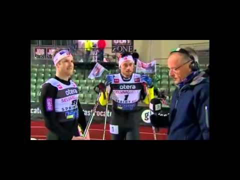 Petter Northug ryker ut i 100-m semien på Bislett