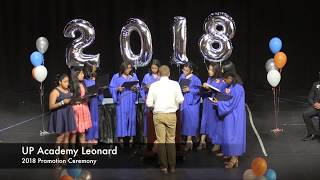 UP Academy Leonard 8th Grade Promotion 2018