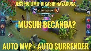 GAMEPLAY + BUILD HAYABUSA JESS NO LIMIT AUTO MVP! MUSUH AUTO SURRENDER! GGWP!!