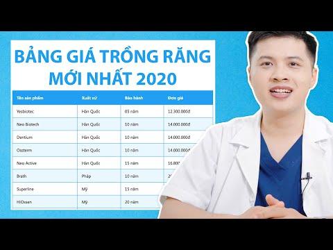 Trồng răng sứ vĩnh viễn bao nhiêu tiền 1 cái || Bảng giá trồng răng implant 2020