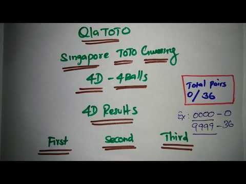 Singapore 4D Number Guessing | TOTO Lucky Number | Wednesday TOTO | 4Balls Trick