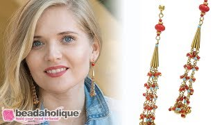 How to Make the Coralie Bead Fringe Earrings