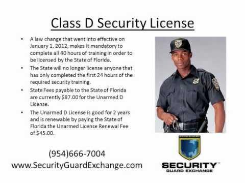 Florida Class D Security License Ft. Lauderdale