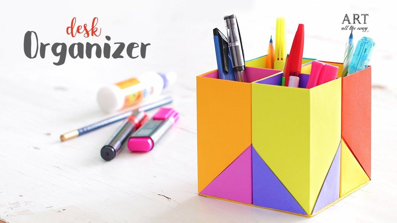 creative diy desk organizer for kids back to school youtube rh youtube com