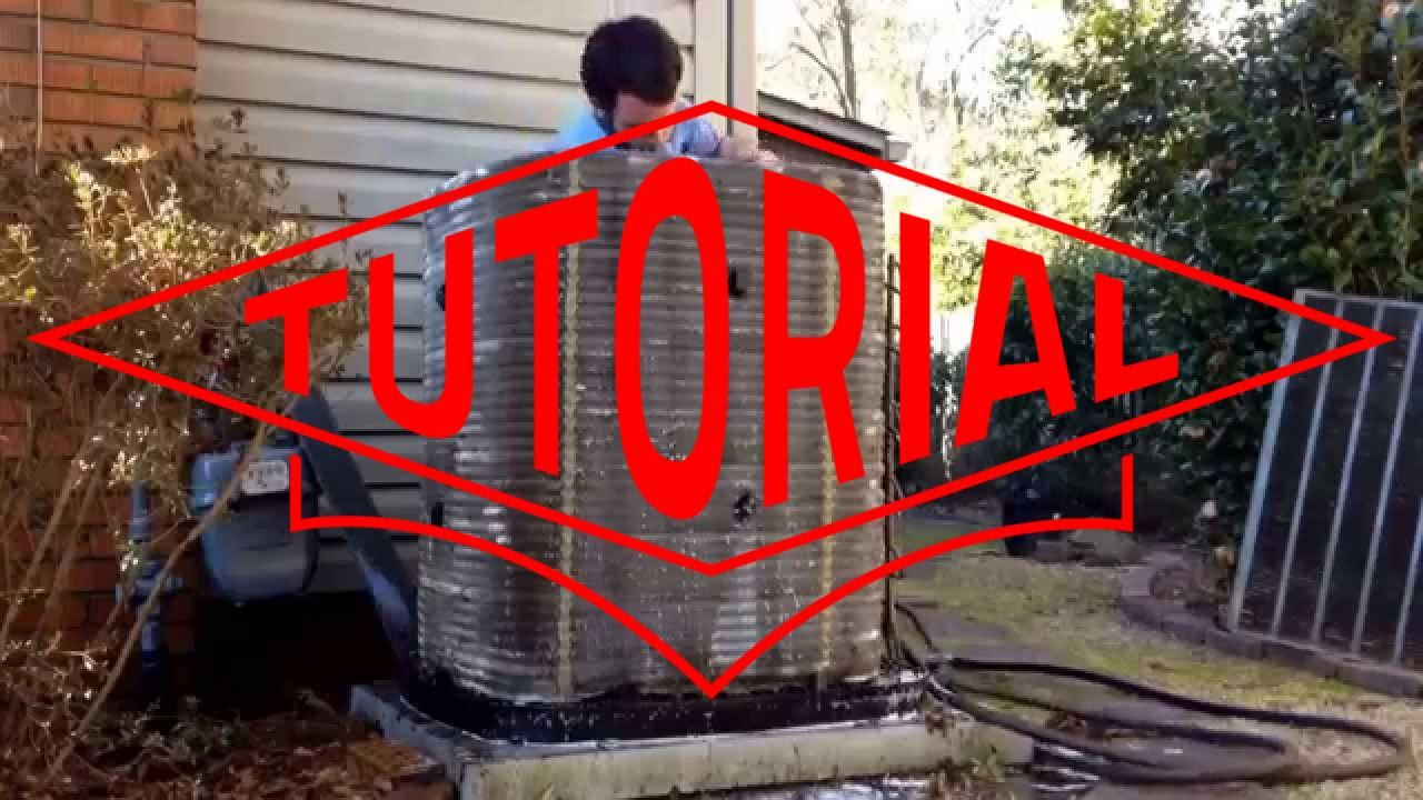 HVAC Service: How to Clean a Trane Air Conditioner Spine Fin Coil