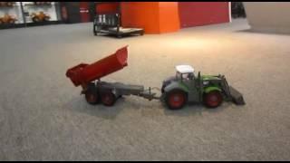 Rc remote - tractor cu trailer 1:28 - telecomanda - jucarii