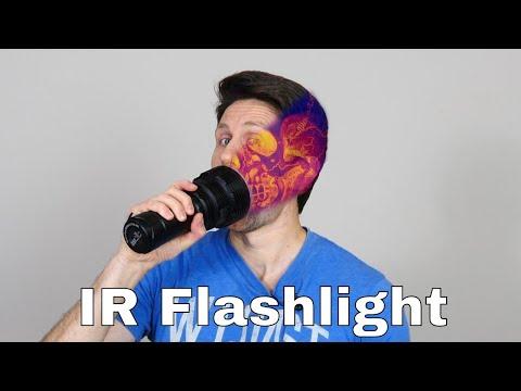 Shining an IR Flashlight Through My Face and Body