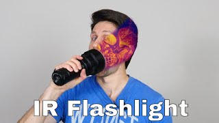 Shining an IR Flashlight Through My Face and Body