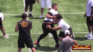 Offensive and defensive line prospects at USC's Elite Camp