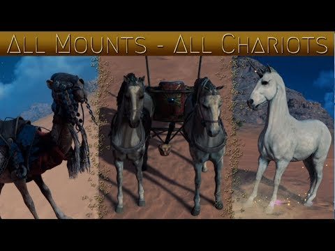 Assassin's Creed Origins All Mounts / All Chariots SHOWCASE
