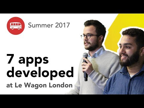 7 apps developed at Le Wagon London - Batch #93