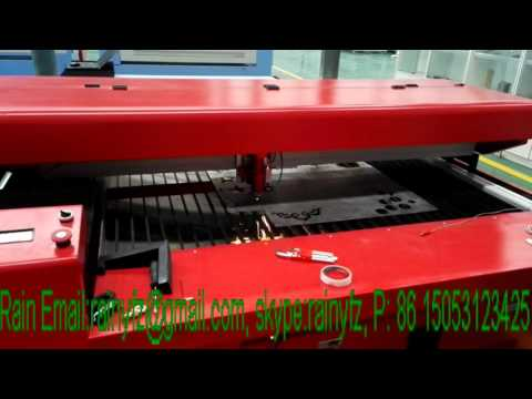 AOL CO2 laser cutting machine cutting 1.5mm stainless steel (SS)