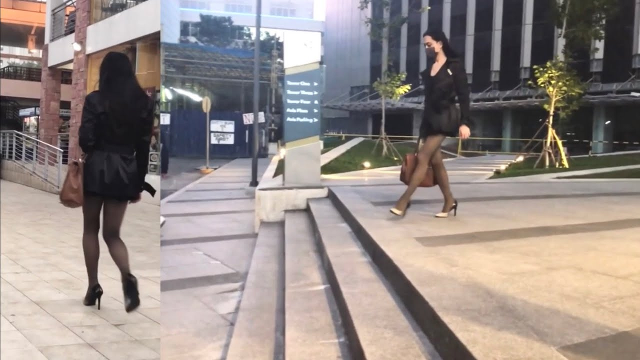 When MEL made the streets like her own Runway | Crossdresser Ladyboy Mel