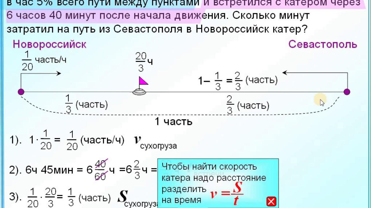Задачи на течение с решением 6 класс высшая математика решение задачи