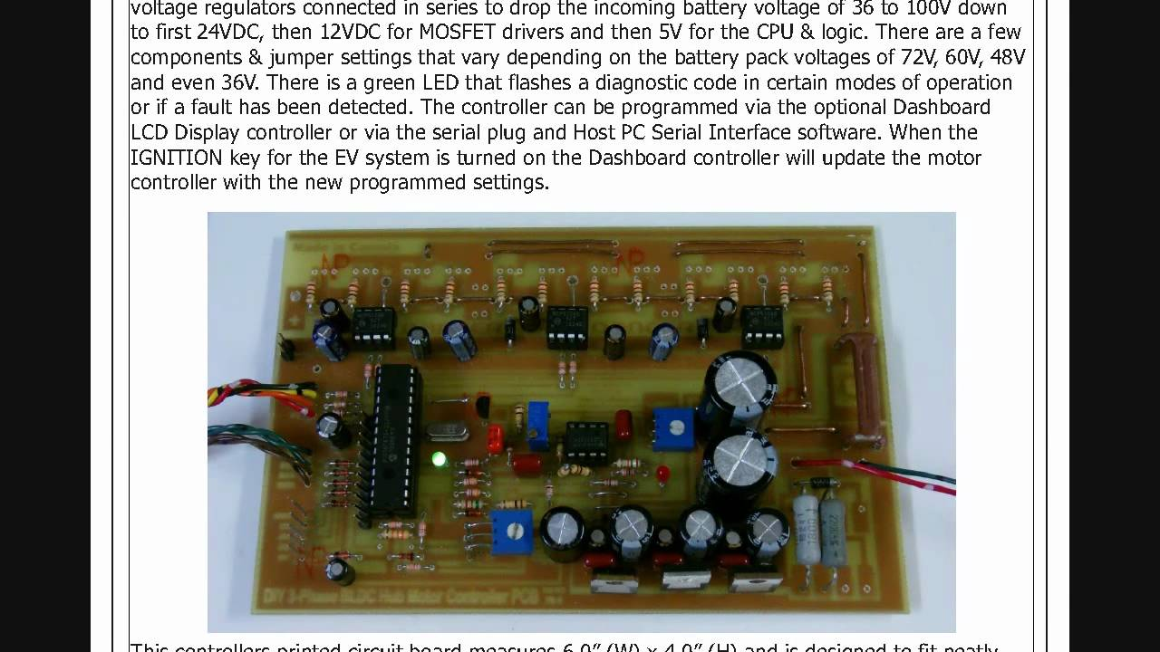 Homemade BLDC Hub Motor Speed Controller ProjectHow Microcontroller Circuit Works  YouTube