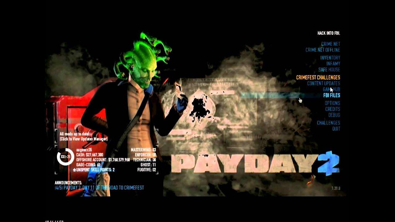 Скачать лаунчер payday 2
