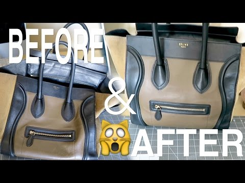 LETS FIX MY CELINE BAG EP. 1 - HOW TO REMOVE SCRATCHES USING LEATHER CONDITIONER