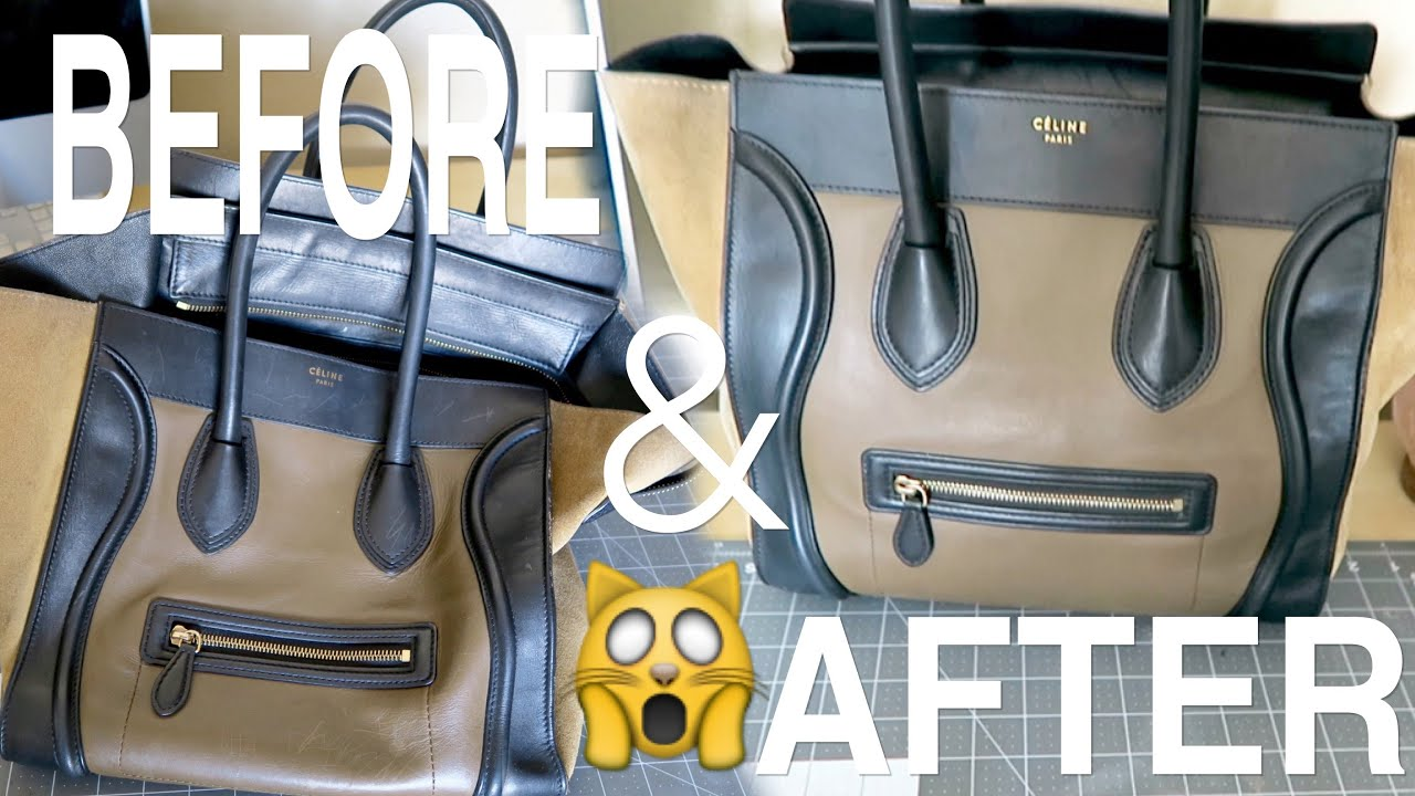 LETS FIX MY CELINE BAG EP. 1 - HOW TO REMOVE SCRATCHES USING LEATHER  CONDITIONER a9f883a3d0104