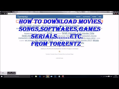 how to download movies,songs games softwares...etc from torrentz