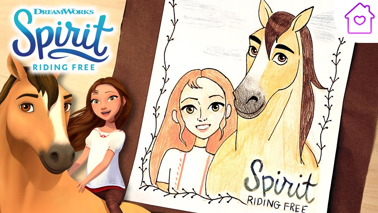 how to draw spirit and lucky  campdreamworks drawalong