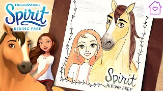 How to Draw SPIRIT AND LUCKY! | #CAMPDREAMWORKS DRAW-ALONG